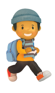 Winter Walk To School character boy 2