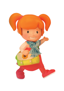 Winter Walk To School character girl