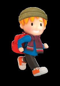 Winter Walk to School character boy 1